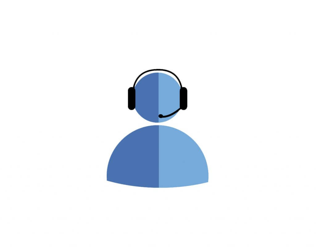 Clipart office worker with headset
